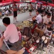 Flea market in Beijing, fisheye - Stock Photo