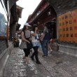 Old town Lijiang in Yunnan province, China, fisheye - Stock Photo