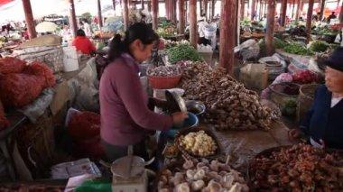 Chiński rynek lijiang — Wideo stockowe