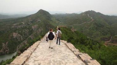 Great wall at Simatai, China — Stock Video