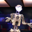 RoboThespian, the life-sized humanoid robot — Stock Video
