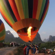 Hot air ballooning - Yangshuo, China — Stock Video