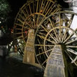Stock Video: Water wheels in old town Lijiang in Yunnprovince, China