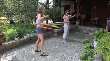Hoola hoop — Stock Video
