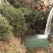 Saar Falls, Golan Hights, Israel - Stock Photo