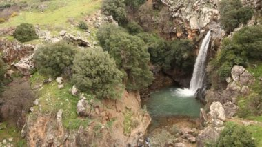 Saar Falls, Golan Hights, Israel — Stock Video