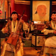 People participate in traditional Mongolian throat singing and music playing — Stock Video