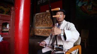 Chinesen spielen die national instruments - erhu — Stockvideo
