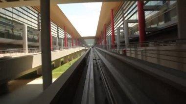 POV of shuttle at Beijing International Airport — Stock Video