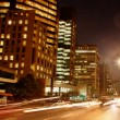 Avenida Paulista night traffic time lapse Sao Paulo Brazil - Stock Photo