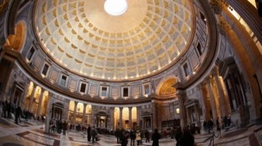 Rome: the Pantheon time lapse — ストックビデオ