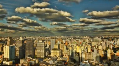 Sao Paulo Brazil skyline sunset time lapse — Stockvideo