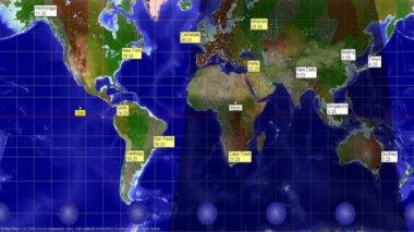 słoneczny zegar animacji — Wideo stockowe #21811269