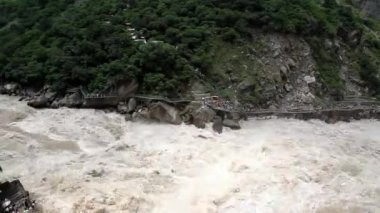 Tiger Leaping Gorge, China, time lapse — Stock Video