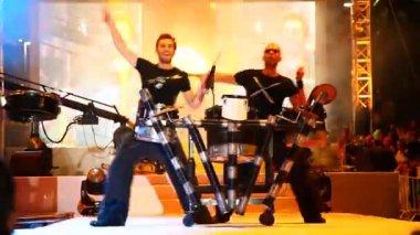 Banda di batteristi — Video Stock