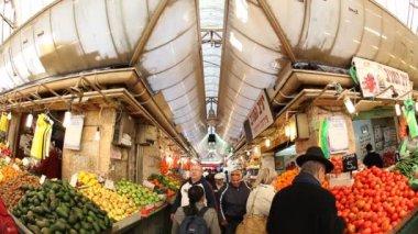 Mahane Yehuda Market in Jerusalem — Stock Video