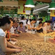 Chinese females in Chengdu supermarket - Stock Photo