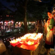 Night life in old town Lijiang in Yunnan province, China - Stock Photo