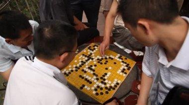 Game Go, public park in Chengdu — Stock Video