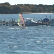 Stock Video: Wind surfing