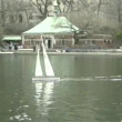 Sunday in Central Park, New York, USA: RC boating - Stock Photo