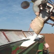 Filling a fertilizer — Stock Video