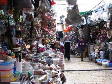 Ulicy bazar w nazarecie — Wideo stockowe