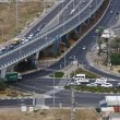Checkpost intersection Haifa Israel time lapse - Stock Photo