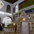 Believers pray afternoon prayer in Bushaief Synagogue - Stockfoto