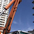 Construction workers with cranes build new Sewerage and train system — Stock Video #23079114