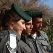 Israeli policeman male and female of the Boarder Guard Unit - Stock Photo