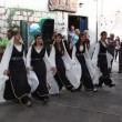 Traditionally dressed Druze females and young males dance Dabke — Stock Video