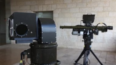 RED SKY-2 Compact Air Defense Missile System scanner and launcher — Stock Video