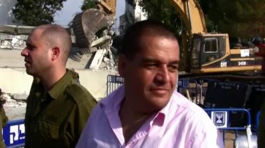 Roni Daniel - military and security correspondent for Israeli Channel 2 — Stock Video