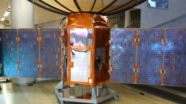 TecSAR Observation Satellite on display — Stock Video