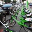 New public bicycle rental project in Ben Yehuda Street in Tel Aviv, Israel - Stock Photo