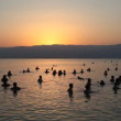 Float in the dead sea during sunrise — Stock Video #23080694