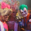 Stock Video: Finalists in Drag Queen competition