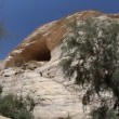Stock Video: Cave used by hermits in Ein Avdat in Negev district in southern Israel