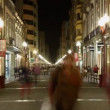 Las Palmas de Gran Canaria, Calle Mayor de Triana pedestrian area timelapse — Stock Video