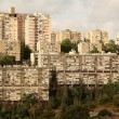 Neve Shaanan housing buildings Haifa Israel time lapse — Vídeo de stock