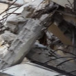 Stock Video: Earthquake rubble