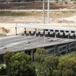 Toll booth Checkpost intersection Haifa Israel time lapse — Stock Video