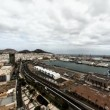 Las Palmas de Gran Canaria city skyline aerial, looking South west timelapse — Stock Video