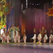 Children and teens dance in the Carnival Junior Queen competition - Stock Photo