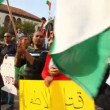 Anti war demonstration supporting Gaza in Nazareth Israel — Stock Video