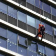 Firefighter rescues casualty by rappelling from Tel Aviv Municipality building — Stock Video
