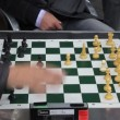 Retired persons senior citizens play Chess — Stock Video