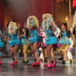 Children and teens dance in the Carnival Junior Queen competition — Stok video
