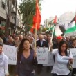 Anti war demonstration supporting Gazin Nazareth Israel — Stock Video #23083066